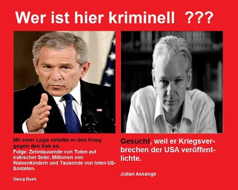 Bush Assange Kriminell