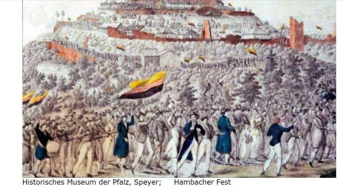hambach - deutschlandfahne
