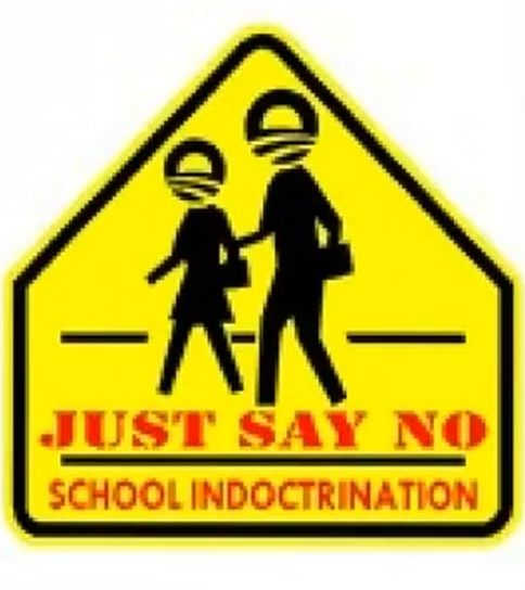 no to school indoctrination