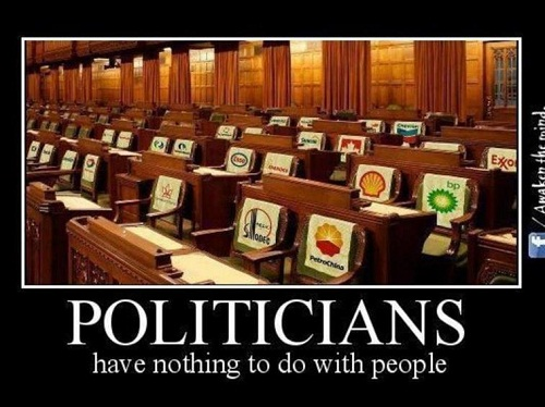 politicians have nothing to do with people