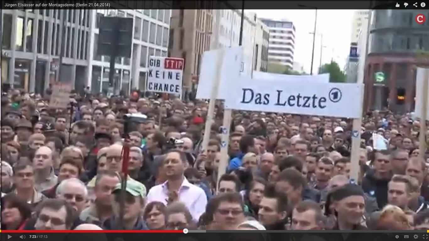 Montagsdemo am 21.04.2014, Berlin