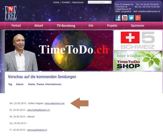 TimeToDo TV - Programmvorschau 22.06.2015